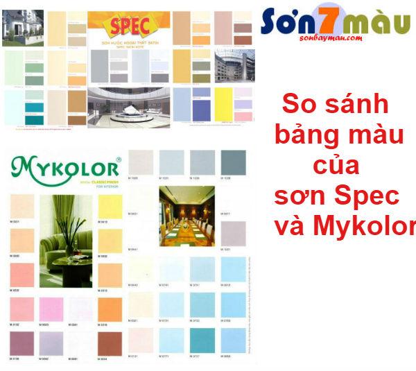 So sánh sơn spec và mykolor