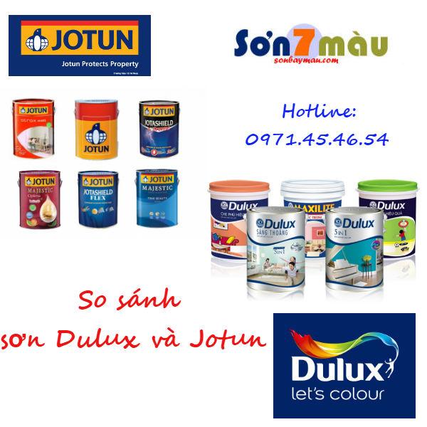 So sánh sơn Jotun và Dulux