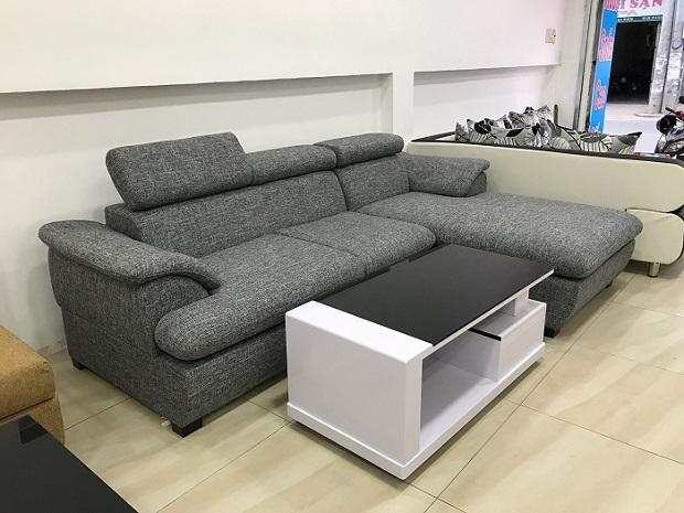 Sự kết hợp ghế sofa chữ L và bàn trà đẹp cho phòng khách